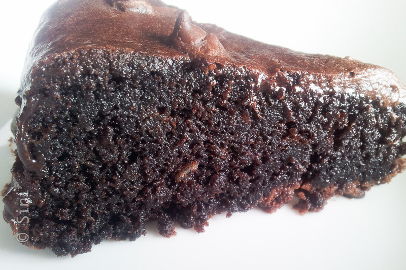 Rich Chocolate Cake Slice
